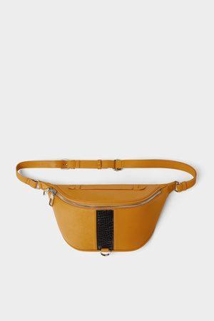 Zara žlutá ledvinka s detailem pruhu