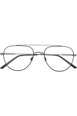 Calvin Klein Matte finish aviator frame glasses