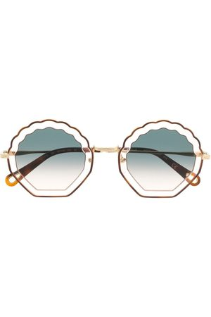Chloé Tally seashell-frame sunglasses