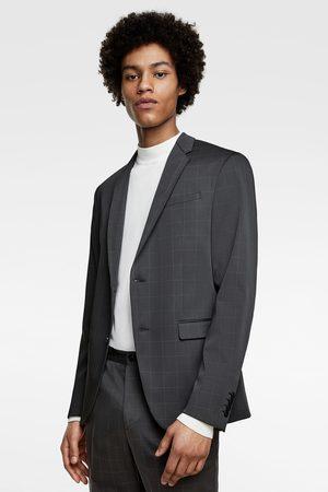 Zara Funkční oblekové sako s kostkou