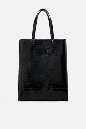 Zara Plochá kabelka shopper s se zvířecím potiskem a64e612b7de