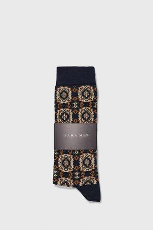 Zara Mercerizované žakárové ponožky