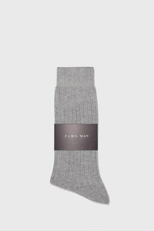 Zara žebrované ponožky z mercerizované bavlny
