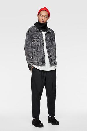 Zara Džínová bunda s nápisem