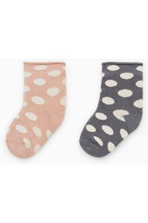 Zara Balení 2 párů ponožek s puntíky