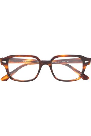 Ray-Ban 0RX5382214450 2144 STRIPPED RED HAVANA Leather/Fur/Exotic Skins->Leather