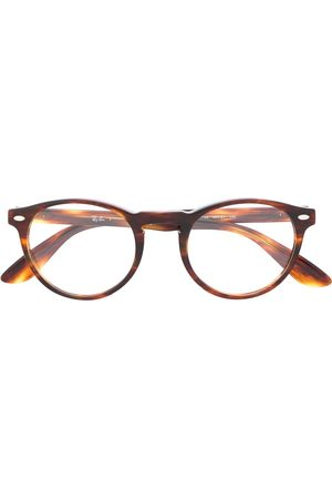 Ray-Ban 0RX5283214449 2144 STRIPED HAVANA Leather/Fur/Exotic Skins->Leather