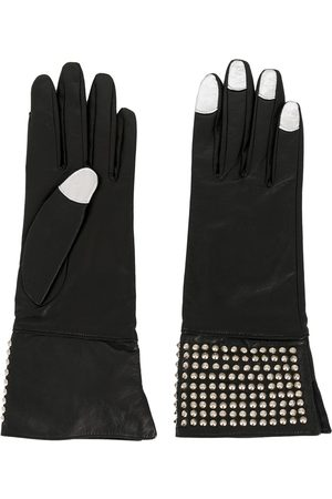 YOHJI YAMAMOTO 2000s micro studs contrasting nails gloves