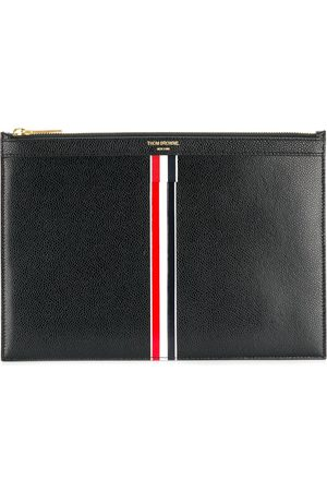 Thom Browne Vertical Intarsia Stripe Small Leather Tablet Holder