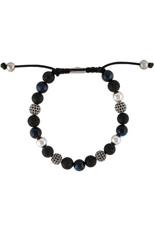 Nialaya Textured beaded bracelet