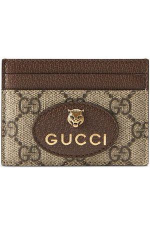 Gucci GG Supreme feline head cardholder