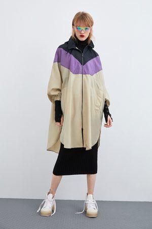Zara Ženy Pláštěnky - Pláštěnka color block s možností složení do kapsy