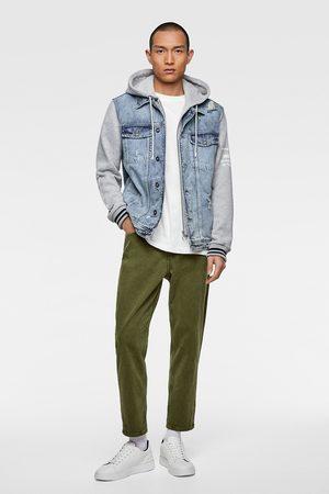 Zara Džínová bunda s kombinovanou kapucí