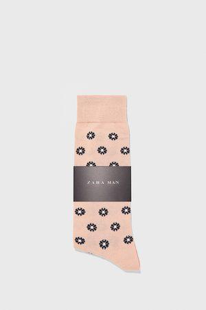 Zara Ponožky z mercerizované bavlny s květinovým žakárem