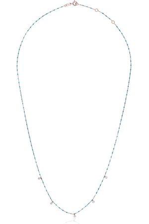 GIGI CLOZEAU Blue 5 Diamond 18k Rose Gold Necklace
