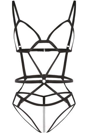 Fleur Du Mal Ženy Body - Bondage strap bodysuit