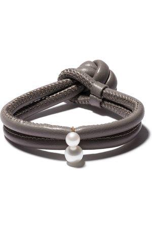 Mizuki 14kt gold pearl wrap bracelet