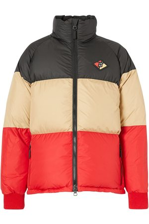 Burberry Panelled logo patch puffer jacket