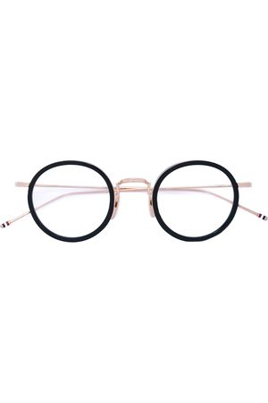 Thom Browne BLACK & GOLD OPTICAL GLASSES WITH CLEAR LENS