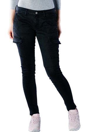 Pepe Jeans Ženy Kapsáče - Dámské černé kapsáčové kalhoty Survivor