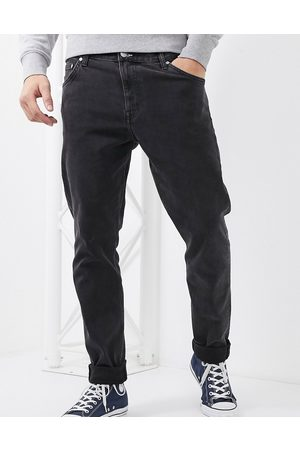 Weekday Muži Rovné nohavice - Sunday relaxed tapered comfort fit jeans in black