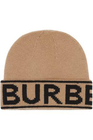 Burberry Čepice - Logo intarsia beanie