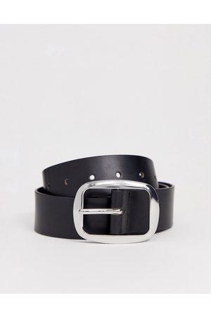 ASOS Leather jeans belt-Black