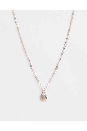 Ted Baker Ženy Náhrdelníky - Elvina Enamel Glitter Mini Button Pendant Necklace-Gold