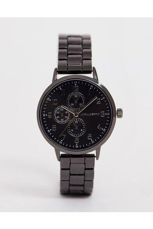 ASOS Skinny bracelet watch in gunmetal