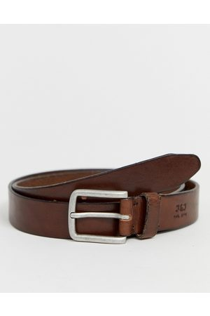Jack & Jones Muži Pásky - Leather belt in brown