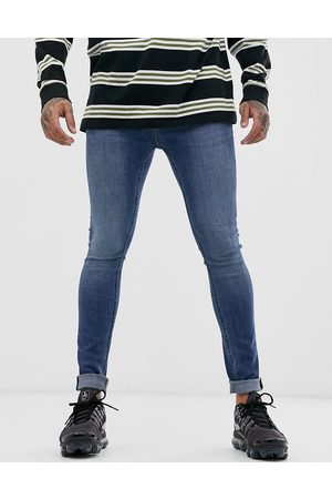 Topman Spray on jeans in blue wash