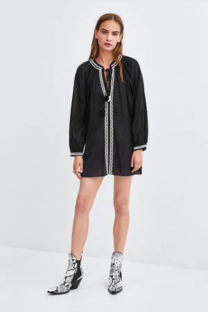 Zara Tunika s kontrastní výšivkou