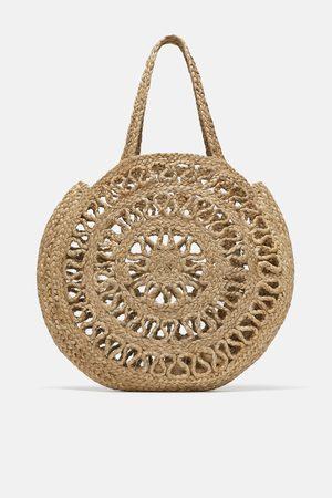 Zara Přírodní kabelka shopper