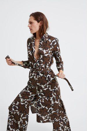 Zara Tunika s květinovým potiskem a páskem