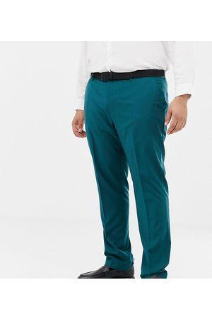 Farah Muži Společenské - Farah Henderson skinny suit trousers in teal-Green