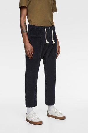 Zara Manšestrové kalhoty s pasem jogger