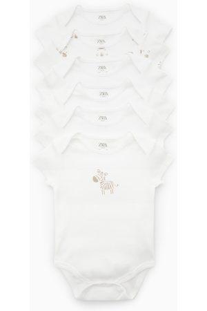 Zara Balení šesti kusů body zebry