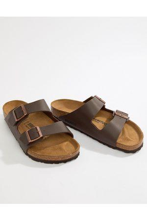 Birkenstock Arizona birko-flor sandals in dark brown