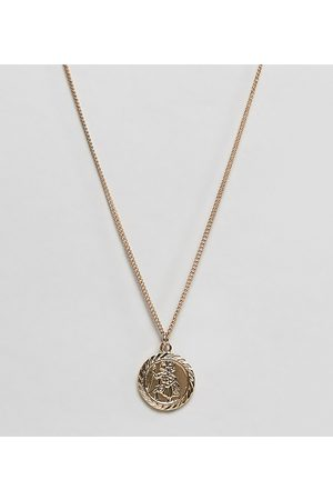 Reclaimed Vintage Inspired St Christopher necklace in gold exclusive at ASOS