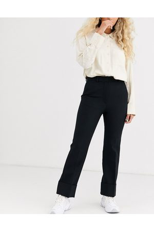 & OTHER STORIES Capsule wool tuxedo trousers in black
