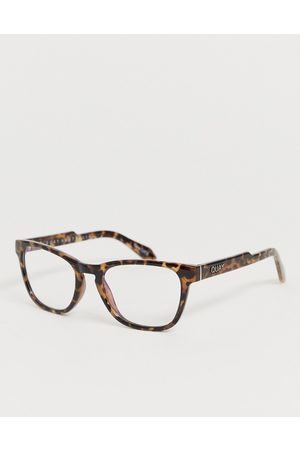 Quay Australia Muži Sluneční brýle - Hardwire mini square blue light lens glasses in tort-Brown