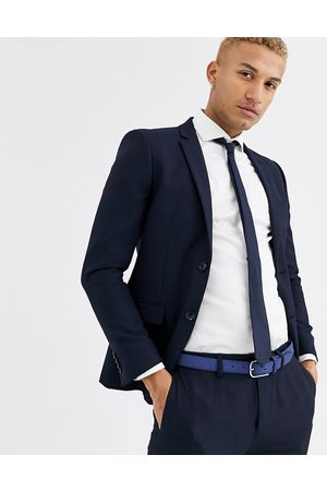 Topman Skinny suit jacket in navy-Blue