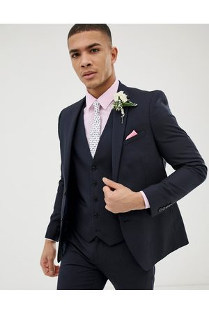 Burton Muži Saka - Wedding skinny fit suit jacket in navy