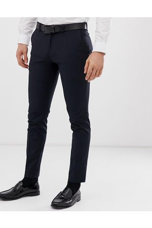Burton Super skinny fit smart trousers in navy