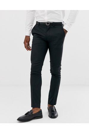 Jack & Jones Premium super slim fit stretch suit trousers in black