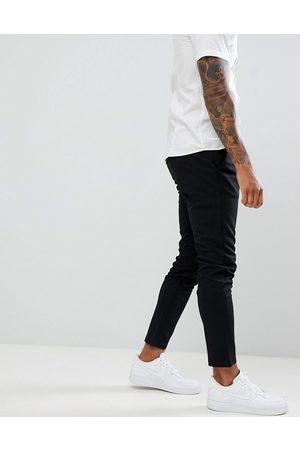Only & Sons Slim tapered fit trousers in black