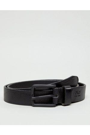 Jack & Jones Muži Pásky - Leather belt in black