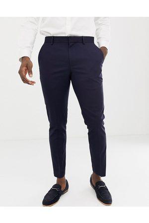 Burton Muži Úzké nohavice - Wedding skinny fit suit trousers in navy