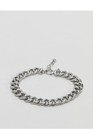 ASOS Muži Náramky - Midweight chain bracelet in silver tone