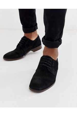 ASOS Muži Do práce - Derby shoes in black suede with natural sole